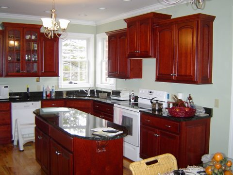 Cherry Kitchen with Tops