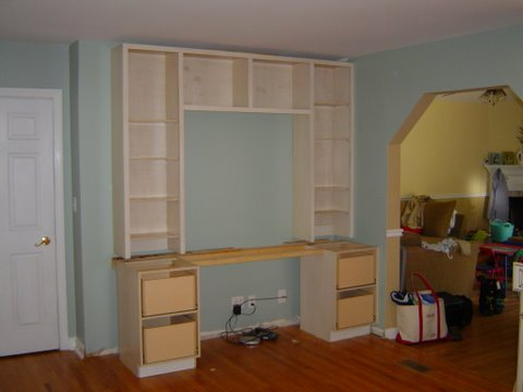 frameless cabinet complex with face frames added