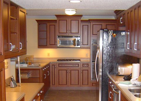 frameless galley kitchen